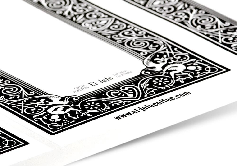 Custom paper service labels